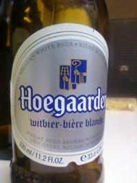 """hoegaarden original white ale - it's actually sadly pronounced """"who-garden"""""""